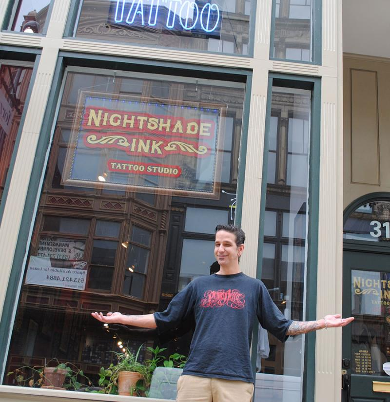 Christopher Sanders, owner of Nightshade Ink