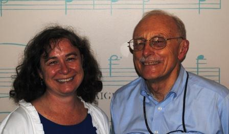 In studio guests (l-r): Ursula Thomas Miller, John Deatrick