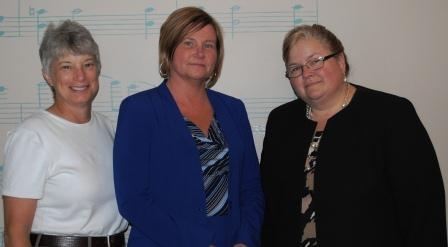 (L-R) Janice Urbanik; Kathie Maynard; Melissa Hall Sommer