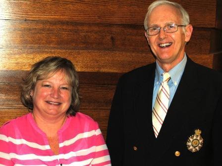 Guests (l-r): Cherie Dixon, Dr. M. Donald Hayes