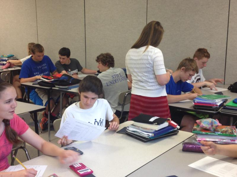 Cortney Van Ausdal's 8th grade class at Nagel Middle School studies  finance with Cerkl connections.
