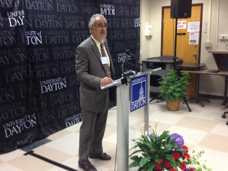 Chair of the Engineering Department at UD, Tony Saliba, announcing the new radar lab.
