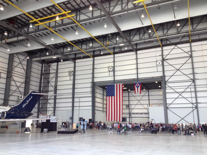Airborne's new hangar is 105,000 square feet