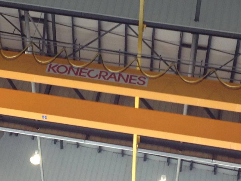 This 15-ton overhead crane system will allow for removal of total tail sections.