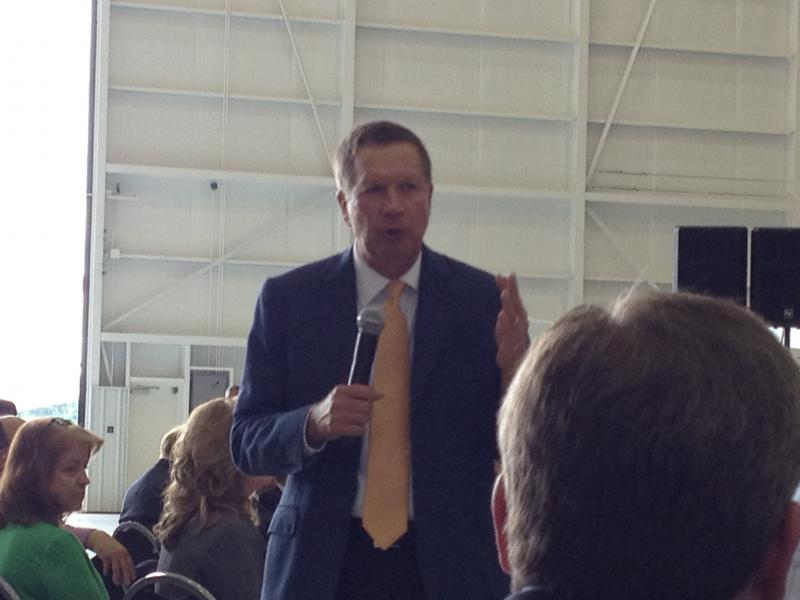 Governor John Kasich told this crowd Ohio will continue to help the air park pursue business.