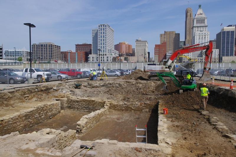 As The Banks project got underway, Gray & Pape uncovered several 19th Century buildings between the Roebling Suspension Bridge and Paul Brown Stadium, and collected more than 600 artifacts from the site.