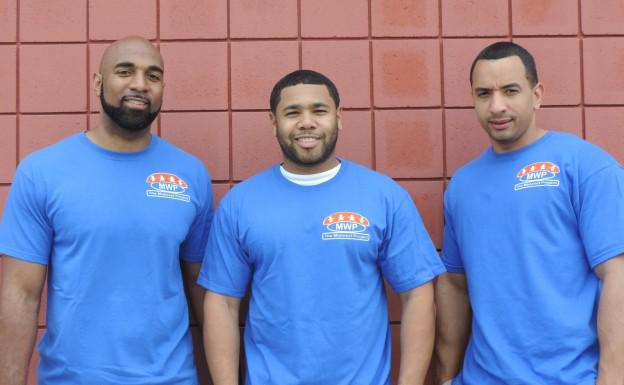 (from left) Kenneth Bibb, Jason Chapman and Rodrigo Williams.