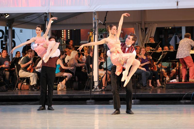A performance by members of the Cincinnati Ballet Company.