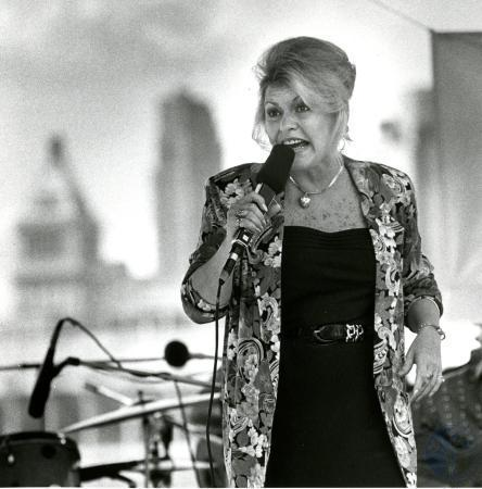 Mary Ellen Tanner doing what she loved - singing