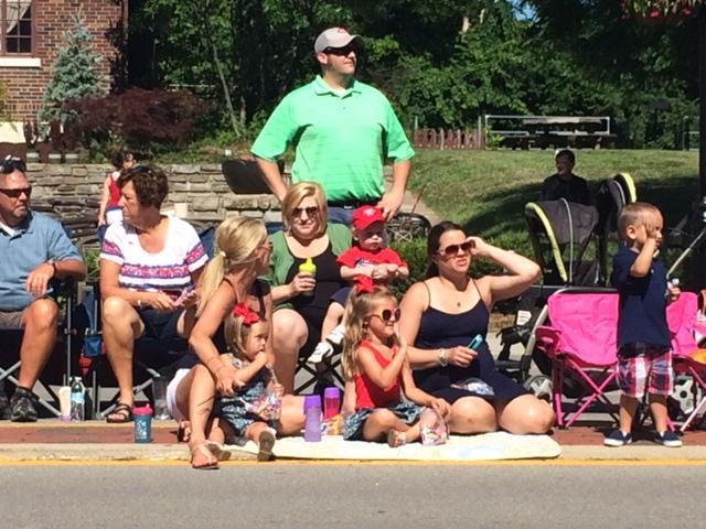 watching the parade