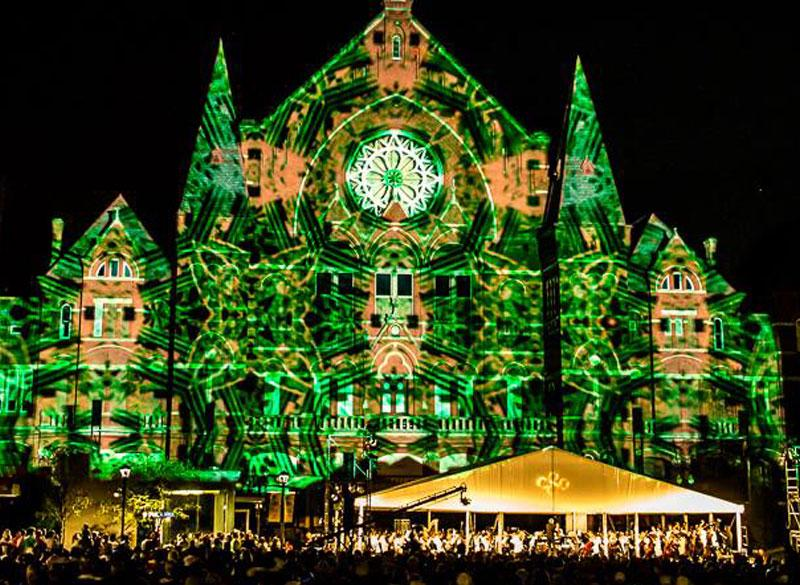 Cincinnati's Music Hall alight with the dazzling imagery of Lumenocity 2013