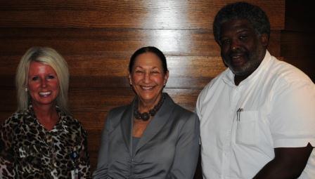 Guests (l-r): Beth Teeter, Dr. Judy Van Ginkel, Ozie Davis III