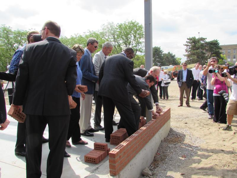 A bricklaying ceremony marked the official start of construction of the new campus.
