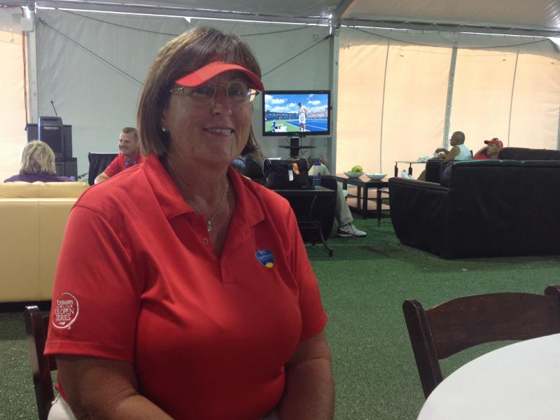 Chair umpire Susan Burns saw the seat in Washington, and would like to try it.