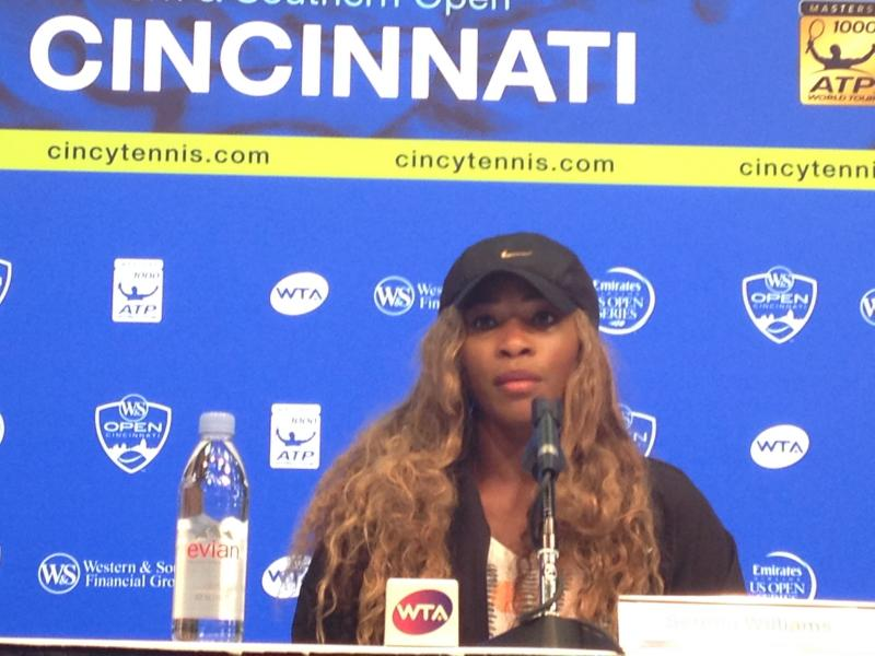 "Serena Williams, winner of the Western & Southern Open, hasn't tried it, but says she doesn't like to be ""shocked"" with cold."