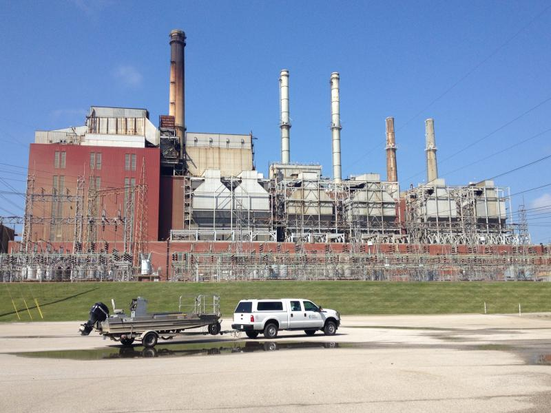 This Duke Energy Plant, scheduled to close next year, is the site of the fuel spill.