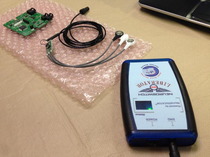 The NeuroSwitch helps people with ALS and quadriplegics communicate.