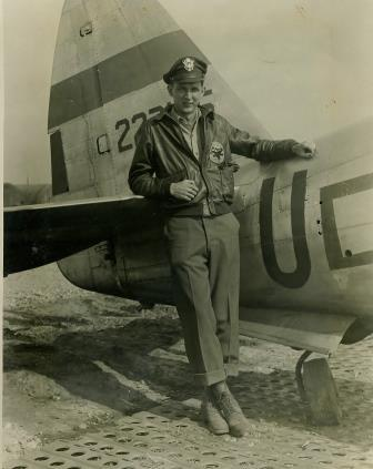 Herschel Ponder with his P-47