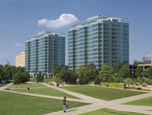 A rendering of what the renovated Scioto, at right, will look like when it opens in August 2016.