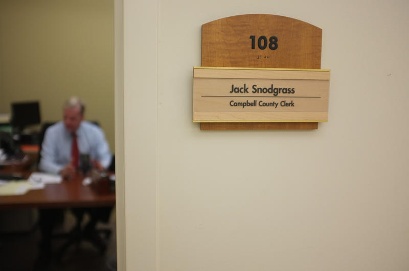 The new clerk, Jim Luersen, will go up outside Snodgrass' office on Jan. 5