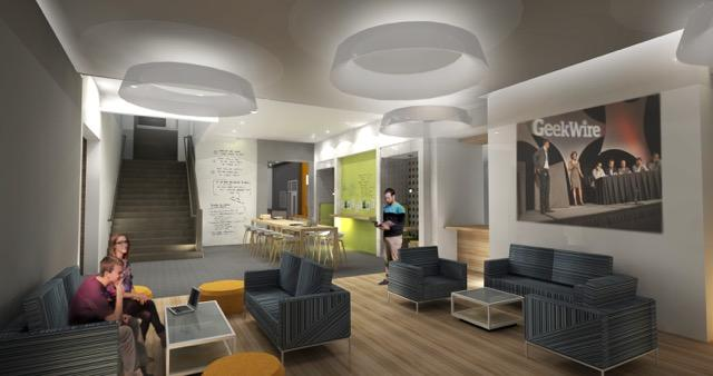 Rendering of the new Cintrifuse space in OTR