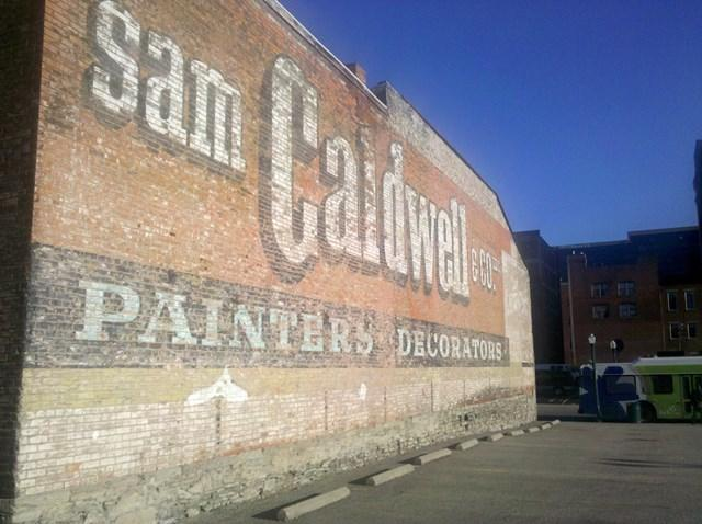 Sam Caldwell ghost sign, Downtown