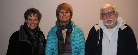 Guests (l-r): Mary Stagaman, Karen Kahl, Don Nesbitt