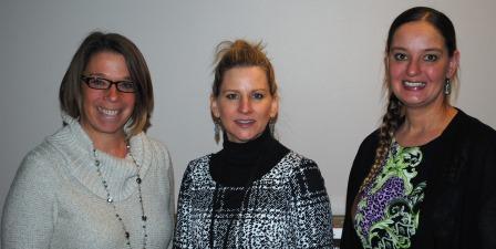 Guests (l-r): Dr. Suzanne James, Betsy Singh, Nicole Dietrich