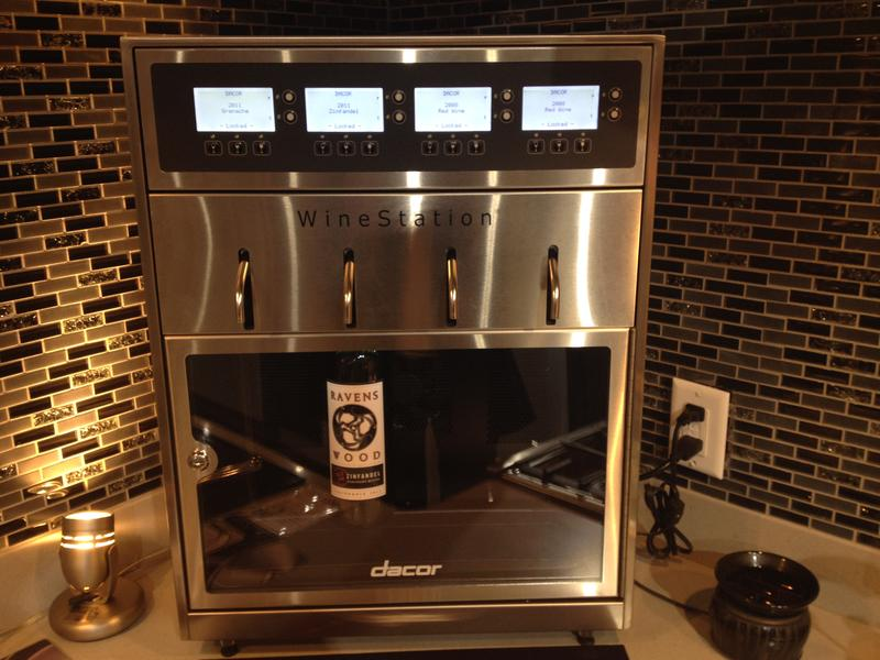 Dacor's Wine Station uses argonne gas to keep the wine fresh.
