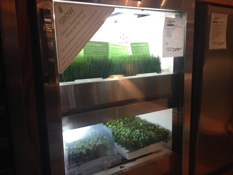 The Urban Cultivator grows fresh herbs and vegetables for your salad.