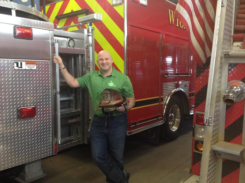CEO Zachary Green started out promoting his products for firefighters, but sees other uses.