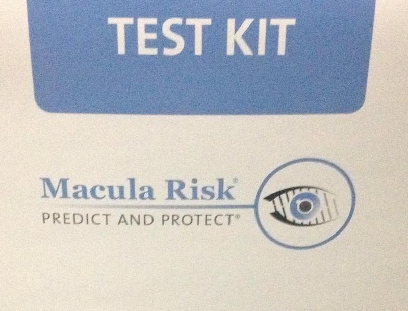 This genetic test for macular degeneration involves a cheek swab.