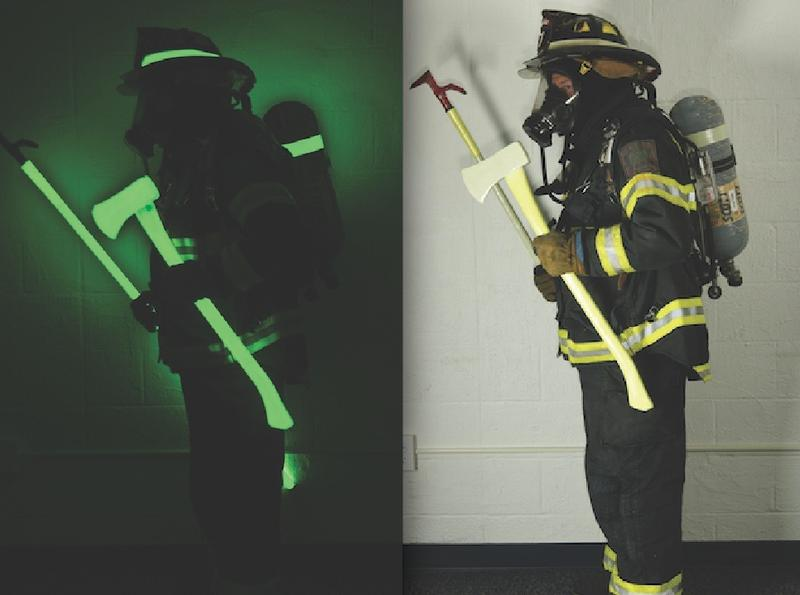 With photoluminescence firefighters glow in the dark.