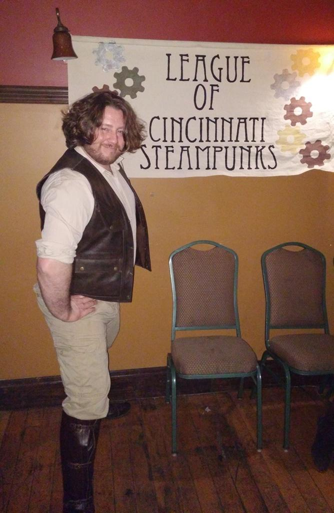 Aloysius Fox helped start the local steampunk group in 2008.