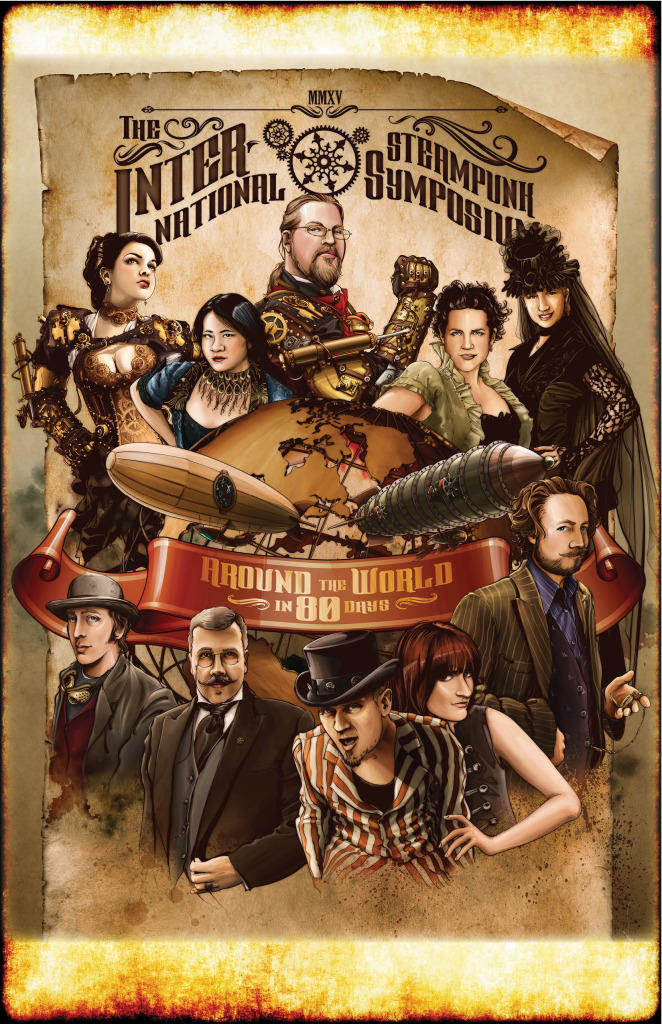 The official poster for the International Steampunk Convention.