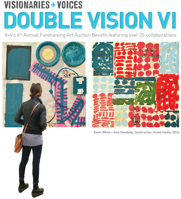 Visionaries & Voices' Double Vision exhibit and auction is Friday, April 10 at Memorial Hall