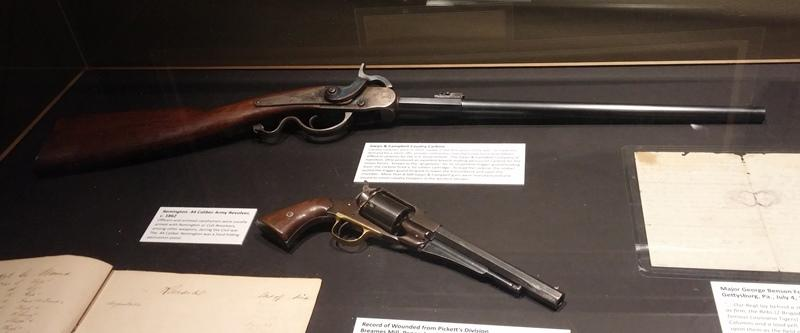 Civil War era firearms on display at the Treasures of Our Military Past exhibit.