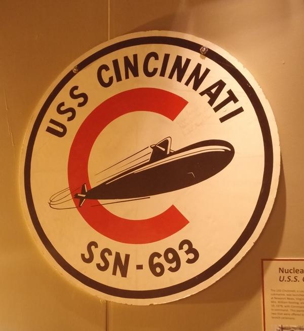 Insignia for the nuclear submarine, USS Cincinnati.