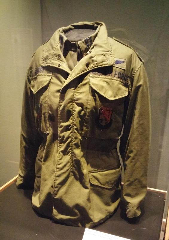 U.S. Air Force field coat worn by Capt. Mary Bamert during Operation Desert Storm.