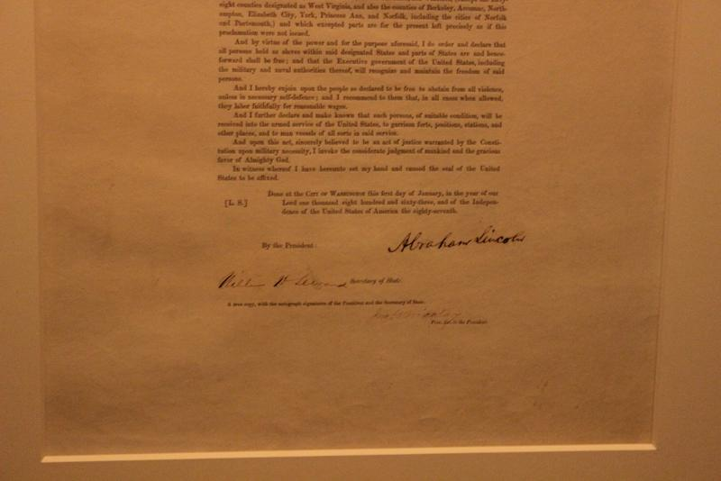 President Lincoln signed this copy and 47 others to raise money for the Union war effort.