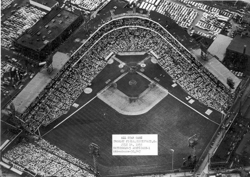 A full house at Crosley Field for the 1953 All-Star Game
