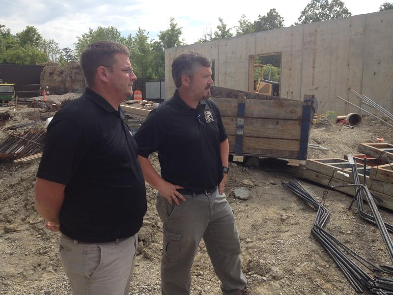 HGC Construction's Greg Speidel and Mark Fisher, VP of Facilities for the Cincinnati Zoo oversaw the construction.