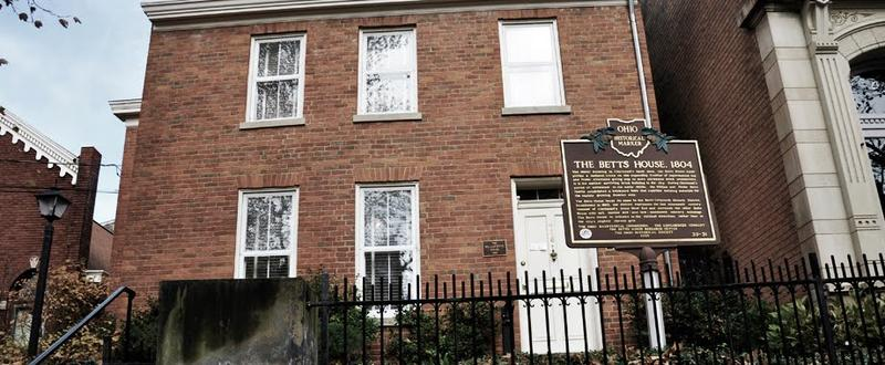 The Betts House, Ohio's oldest brick home, built in 1804