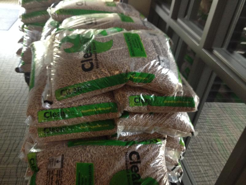 This are the wood pellets for the biomass stove.