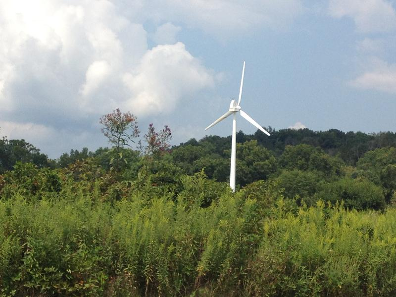 A windmill is one of many green elements at Melink's corporate headquarters, one of the greenest buildings in the U.S.