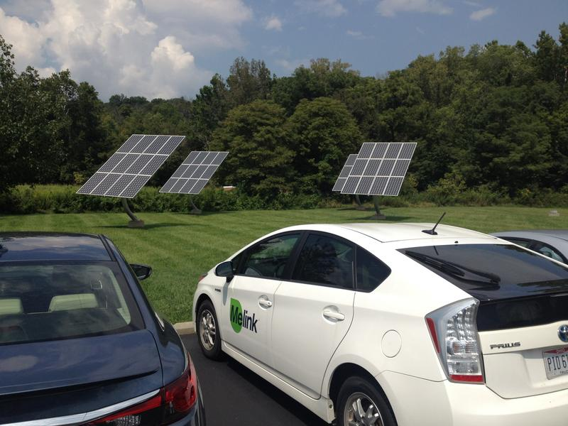 Solar panels are on the ground and on the roof at Melink.