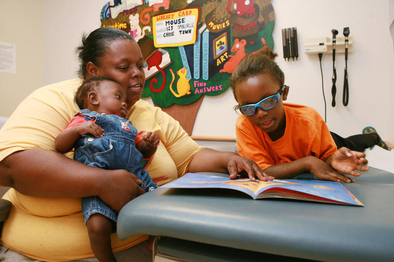 Vyanka Pruitt of Cincinnati stopped by the Pediatric Primary Care Center at Cincinnati Children's last week. She enrolled in the Reach Out and Read/Imagination Library program.