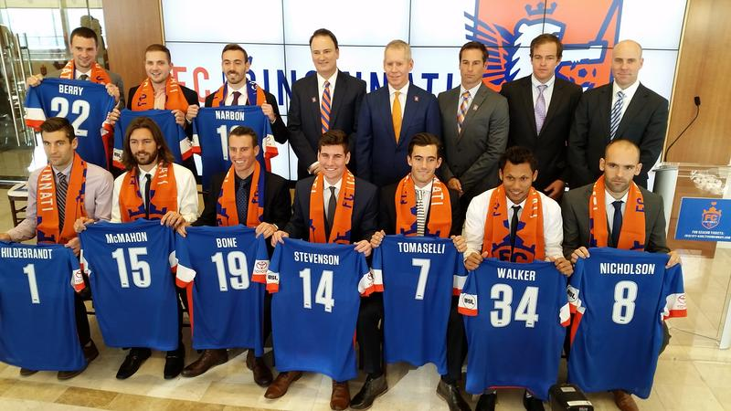 FC Cincinnati names its first eleven signings. (Not pictured: Andrew Wiedeman.)