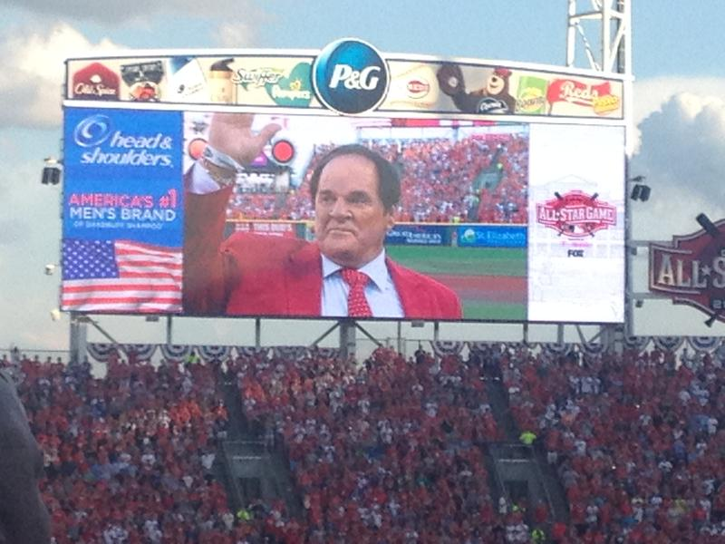 Pete Rose was honored as part of the 2015 All-Star Game ceremonies.