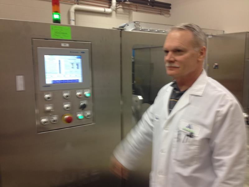 This is the smallest HPP machine Avure sells. It is in its food research lab in Erlanger.